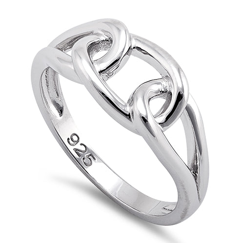 Sterling Silver Chain Knot Ring