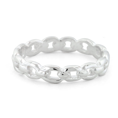 Sterling Silver Chain Links Ring