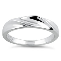 Sterling Silver Curvey Top Ring