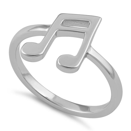 Sterling Silver Double Eighth Note Ring