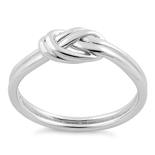 Sterling Silver Double Layer Knot Ring