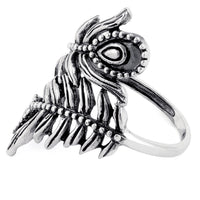 Sterling Silver Double Leaf Flower Ring