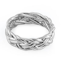 Sterling Silver Easy Woven Ring