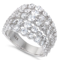Sterling Silver Elegant Graduated Sizes CZ Ring