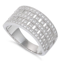 Sterling Silver Elegant Pave CZ Ring