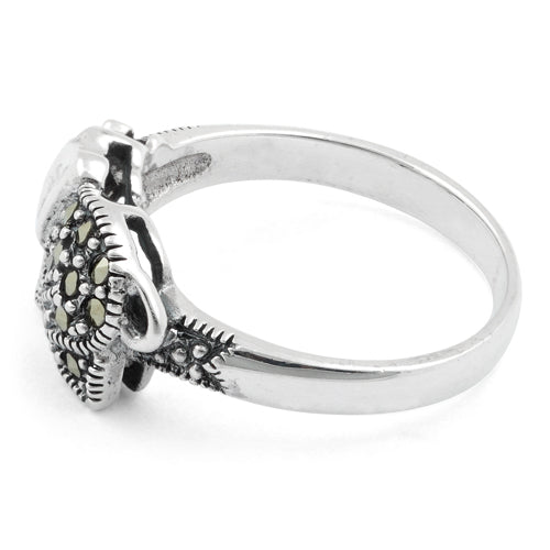 Sterling Silver Elephant Marcasite Ring