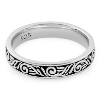 Sterling Silver Embroidery Design Ring