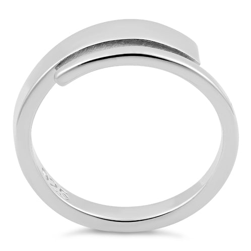 Sterling Silver End Bar Ring
