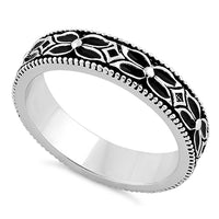 Sterling Silver Eternity Flower Band Ring