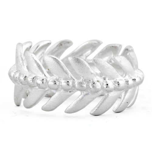 Sterling Silver Eternity Laurel Leaf Ring