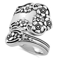 Sterling Silver Extravagant Flower Ring