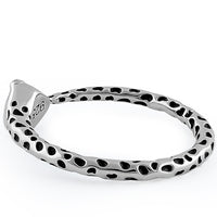 Sterling Silver Full Circle Snake Ring