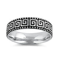 Sterling Silver Greek Band Ring