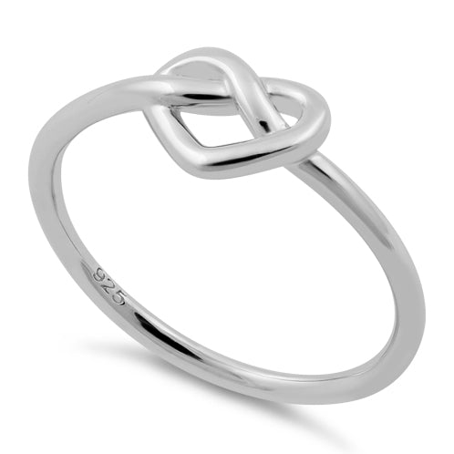 Sterling Silver Heart Knot Shape Ring