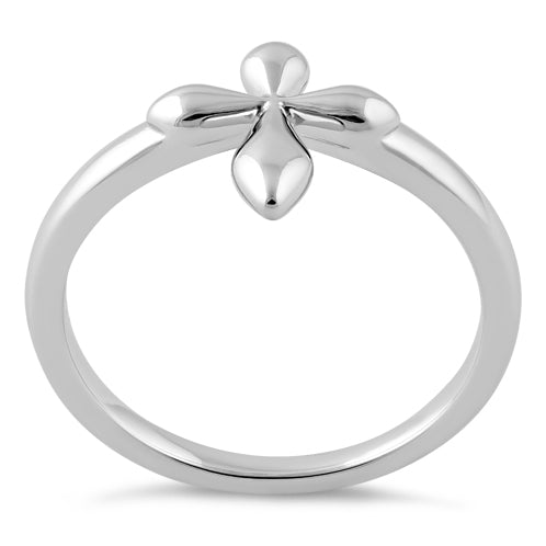 Sterling Silver High Polish Cross Ring