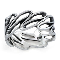 Sterling Silver Infinite Wave Ring