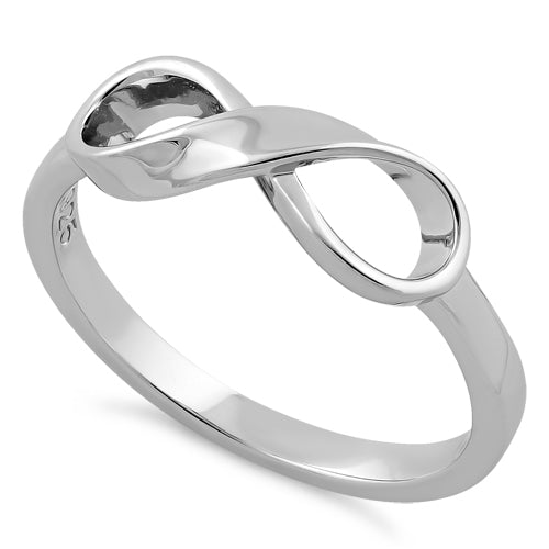 Sterling Silver Infinity Ribbon Ring
