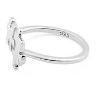 Sterling Silver Jigsaw Pieces Ring