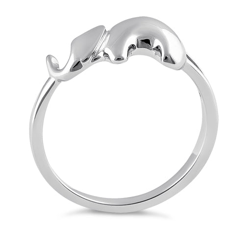 Sterling Silver Majestic Elephant Ring