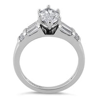 Sterling Silver Marquise Clear CZ Ring