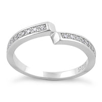 Sterling Silver Meet Me Half Way CZ Ring