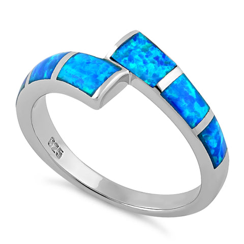 Sterling Silver Meet Me Halfway Lab Opal Ring