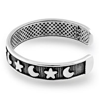 Sterling Silver Moon and Star Adjustable Toe Ring