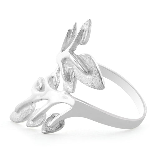 Sterling Silver Multiple Leaves Ring