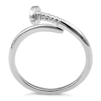 Sterling Silver Nail Adjustable Ring