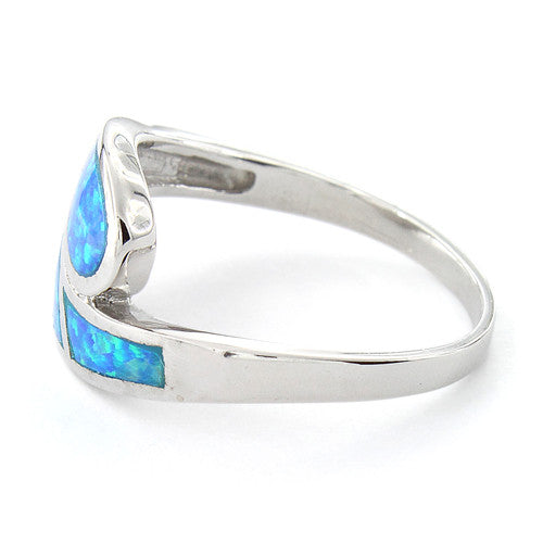 Sterling Silver Lab Opal Ring