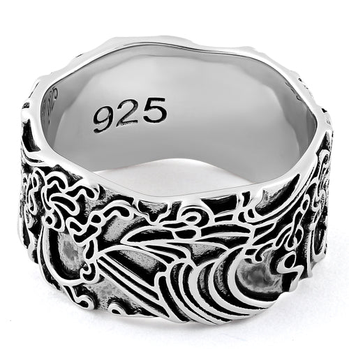 Sterling Silver Oriental Fashion Ring