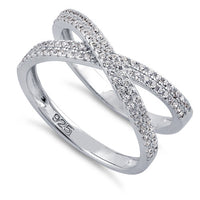 Sterling Silver Overlapping Clear CZ Ring