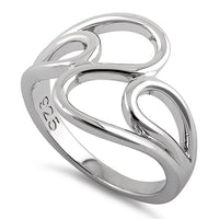 Sterling Silver Wavy Ring