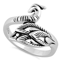 Sterling Silver Peacock Ring