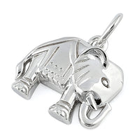 Sterling Silver  Powerful Elephant Pendant