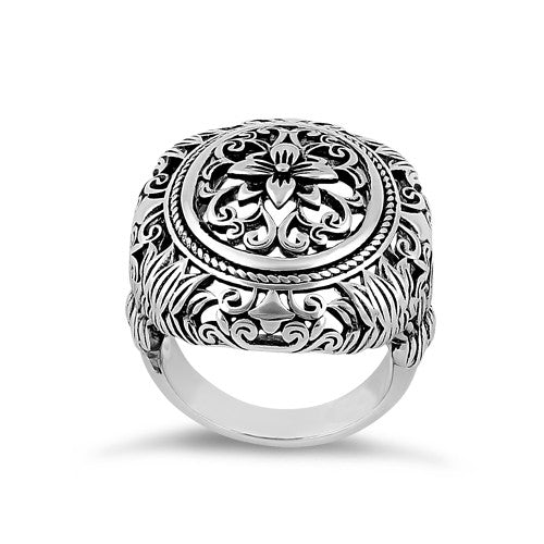 Sterling Silver Powerful Flower Ring