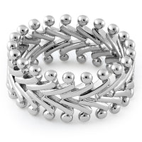 Sterling Silver Protruding Eternity Ring