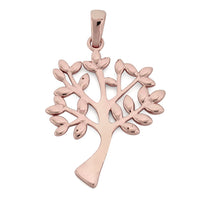Sterling Silver Rose Gold Plated Tree of Life Pendant