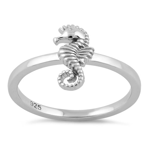 Sterling Silver Seahorse Ring