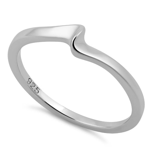Sterling Silver Small Wave Ring