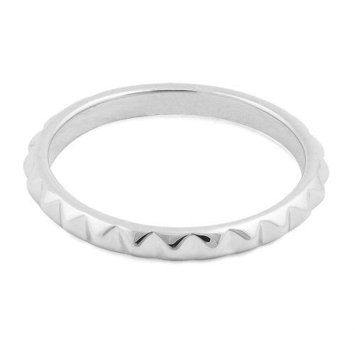 Sterling Silver Stackable Clock Gear Eternity Ring