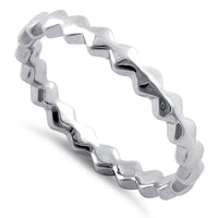 Sterling Silver Stackable Ridged Eternity Ring