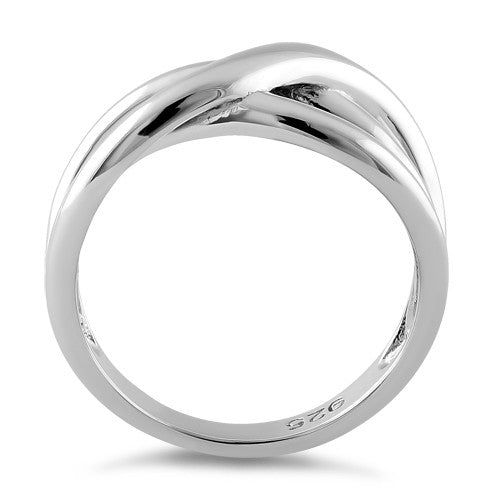 Sterling Silver Subtle Wavelength Ring