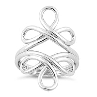 Sterling Silver Swirly Reflections Ring