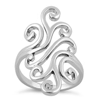 Sterling Silver Swirly Wind Ring