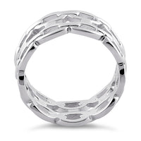 Sterling Silver Thick Chain Ring