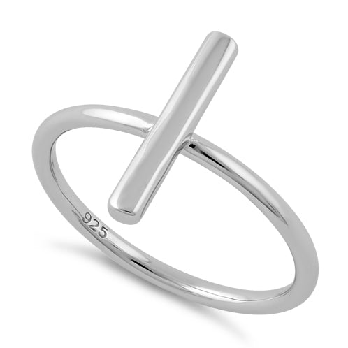 Sterling Silver Thin Bar Ring