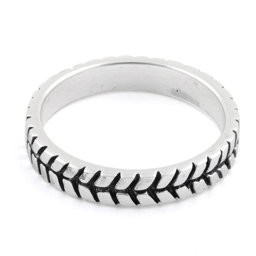 Sterling Silver Tire Band Ring