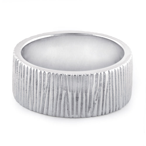 Sterling Silver Tree Trunk Ring