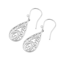 Sterling Silver Tribal Hook Earrings
